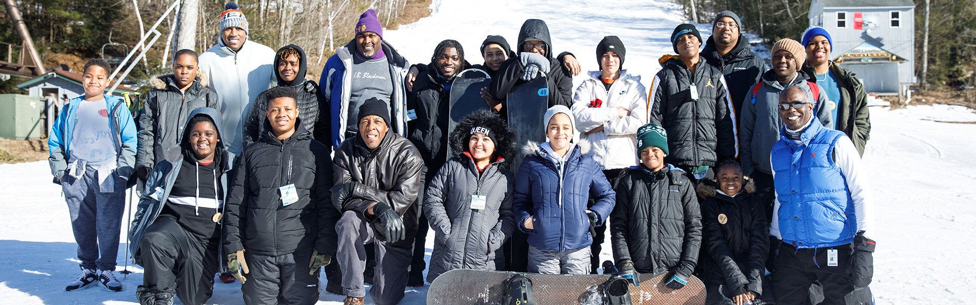 Image of single visit skiers and snowboarders