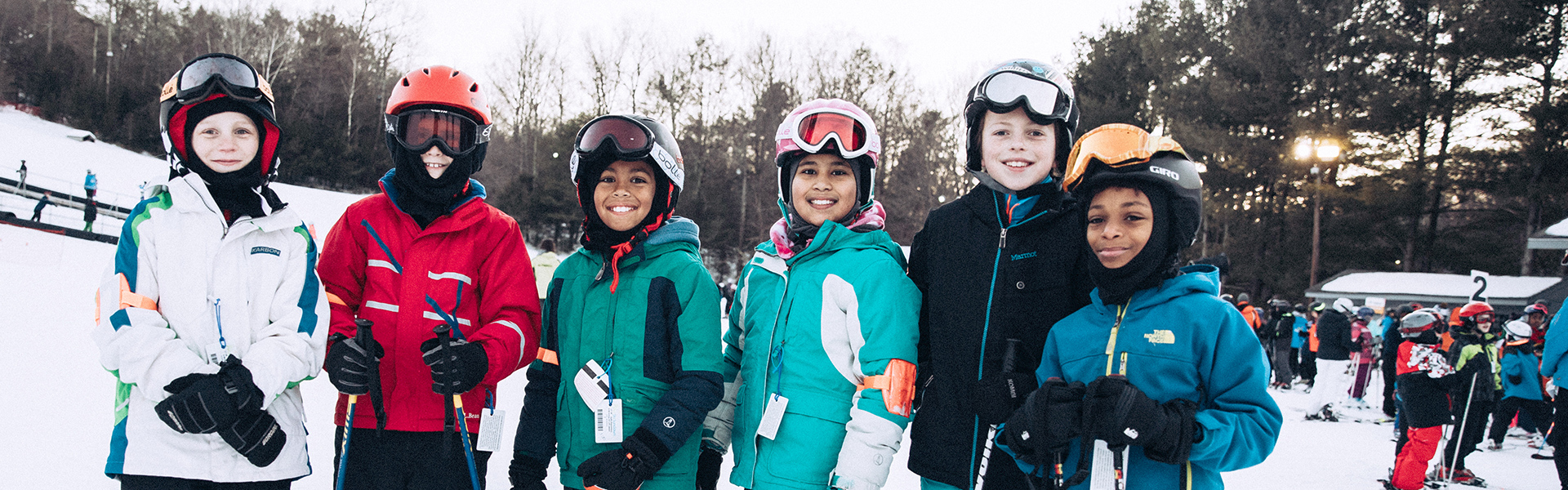 Image of weekly group skiers