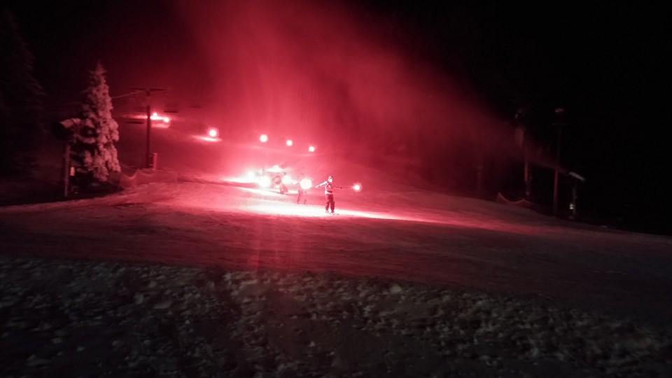 Torch light parade led by Sundown Ski Patrol on New Year's Eve