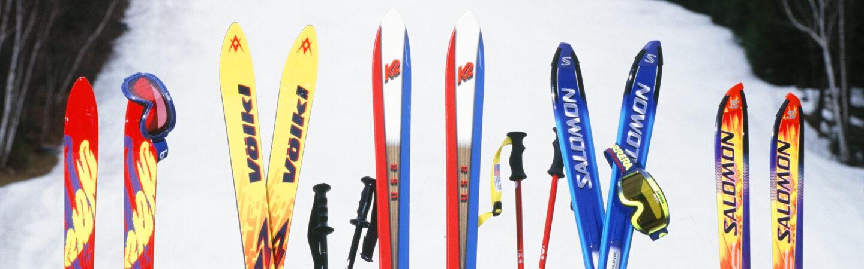 Image of vintage skis