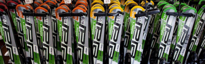 Group image of rental ski offerings