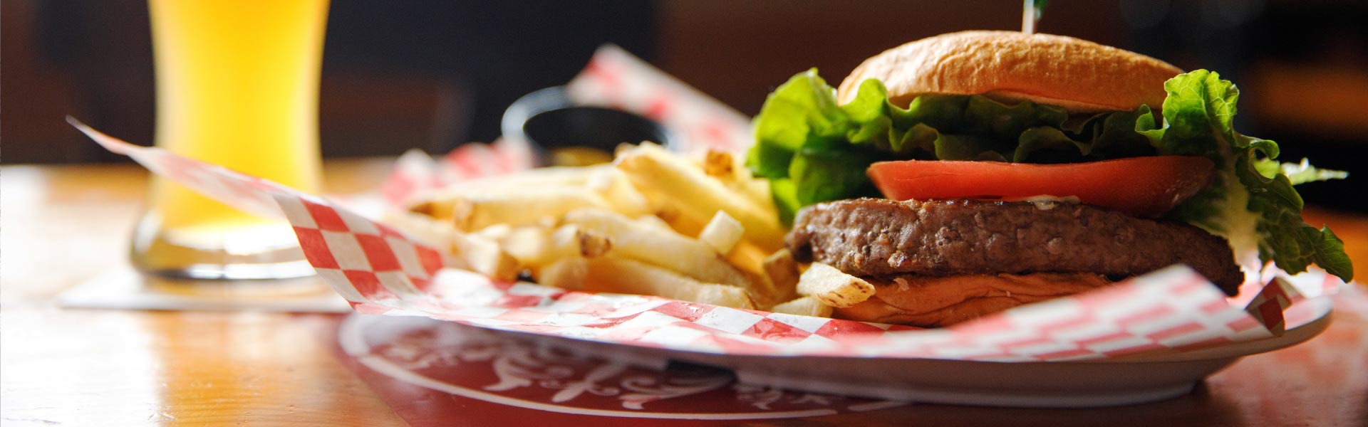 Angus Burger with french fries