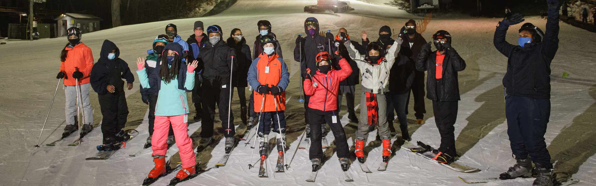 Weekly Group of skiers and snowboarders