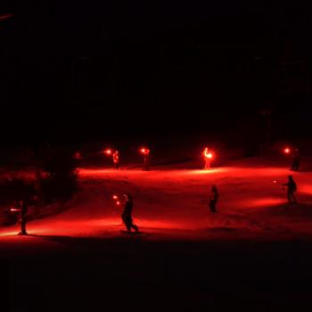 Torchlight Parade on slope